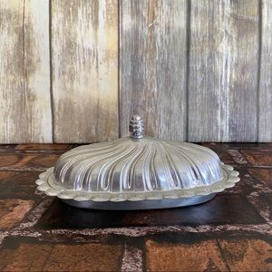Vintage Aluminum Covered Butter Dish